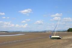 River Kent estuary and Arnside Viaduct, Cumbria Stock Images