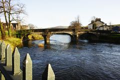 River Kent Miller Bridge in Kendal. Autumn view of River Kent Miller Bridge in Kendal Royalty Free Stock Photography
