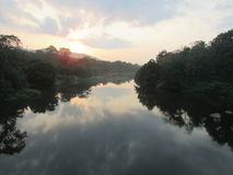 The river of kerela Royalty Free Stock Photography