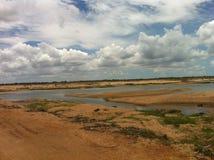 River Krishna Dry Royalty Free Stock Photography