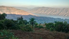 River krishna early morning. Panchgani Western ghats stock photography