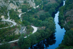 River Krka. Near town Knin, Croatia Royalty Free Stock Photos