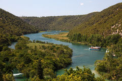 River Krka in Croatia Stock Image