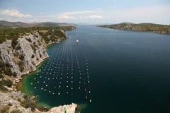 River Krka in Croatia Stock Images