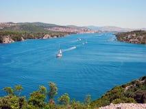 River Krka, Croatia. royalty free stock photography