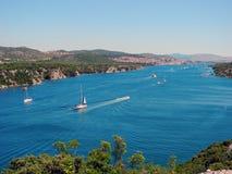 River Krka, Croatia. royalty free stock photos