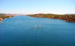 River Krka, Croatia. stock photo