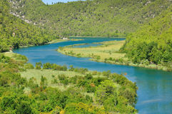 River Krka in the National Park in Croatia Stock Images