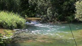 River in Krka National Park stock footage