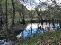 River Krka. River in November, Autumn stock images