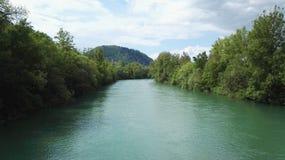 River. Krka Slovenia green water Stock Photo