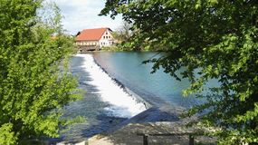 River. Krka Slovenia water green blue nature pure Stock Photography