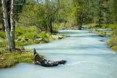 River Kucherla high water. Trekking in the Altai Mountains Royalty Free Stock Photo