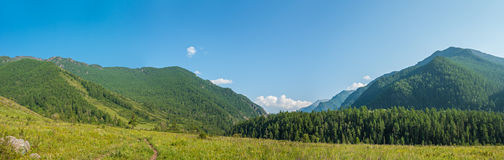 At the river Kucherla. Trekking in the Altai Mountains Royalty Free Stock Photography