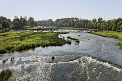 River in Kuldiga, Latvia. Royalty Free Stock Photo