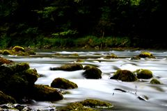 River Kupa. Photo of the river Kupa,in Croatia. With long exposure,it seems like it is speeding up every second Stock Images