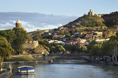 River Kura in Tbilis i. Georgia Royalty Free Stock Photography