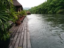 River kwae at kanchanaburi Stock Image