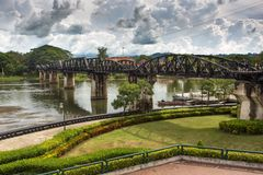 River Kwai bridge Stock Photography