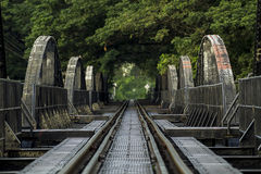 River kwai bridge. Kanchanaburi, in Myanmar border, is home to the famous Bridge River Kwai. During WW II, Japan constructed the meter-gauge railway line from Royalty Free Stock Photos