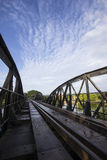 River kwai bridge. Kanchanaburi, in Myanmar border, is home to the famous Bridge River Kwai. During WW II, Japan constructed the meter-gauge railway line from Stock Photography