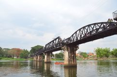 River Kwai Bridge. The River Kwai Bridge in Kanchanaburi Thailand stock image