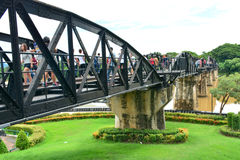 River Kwai bridge in kanchanaburi, Thailand 6. The famous steel railway bridge across the River Kwai in Kanchanaburi Royalty Free Stock Images