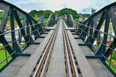 River Kwai bridge in kanchanaburi, Thailand 5. The famous steel railway bridge across the River Kwai in Kanchanaburi Stock Photos