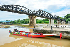 River Kwai bridge in kanchanaburi, Thailand 4. The famous steel railway bridge across the River Kwai in Kanchanaburi Stock Image