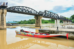 River Kwai bridge in kanchanaburi, Thailand 3. The famous steel railway bridge across the River Kwai in Kanchanaburi Royalty Free Stock Images