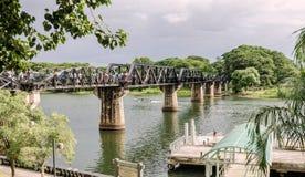 River Kwai Bridge in Kanchanaburi -  Thailand. River Kwai bridge is now known as the Death Railway Royalty Free Stock Photos