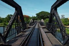 River Kwai Bridge ,Kanchanaburi,Thailand Royalty Free Stock Photo