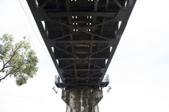 Bridge over the River Kwai in Thailand Royalty Free Stock Images