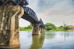 Bridge over the River Kwai in Thailand Royalty Free Stock Image