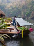 On River Kwai in Kanchanaburi Royalty Free Stock Images