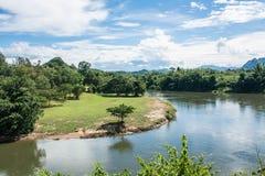 River Kwai, Kanchanaburi of Thailand. Royalty Free Stock Images