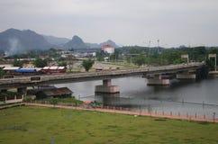The River Kwai in Kanchanaburi, Thailand Stock Photos