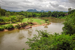 River Kwai and landscape Thailand Royalty Free Stock Image
