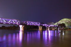 River Kwai metal train bridge Royalty Free Stock Images