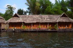 River Kwai. The river Kwai raft house royalty free stock image