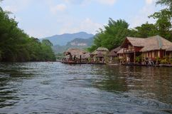 River Kwai. Raft house stock image