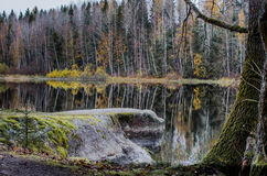 River Kymijoki in Kouvola. Scenic view of river Kymijoki at Kouvola in Finland, autumn scene Royalty Free Stock Photos