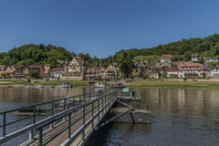 River Labe or Elbe in Stadt Wehlen Stock Photos