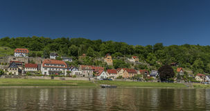 River Labe or Elbe in Stadt Wehlen Stock Images