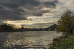 River Labe in Litomerice town Stock Photo
