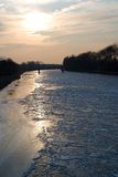 River Labe in winter, Nymburk Royalty Free Stock Photo