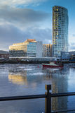 River Lagan and the Dock area Belfast Royalty Free Stock Photo