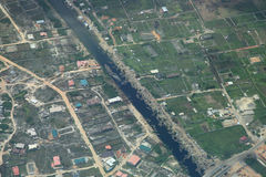 River in lagos nigeria. Country side aerial view royalty free stock images