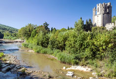 River of Lagrasse Stock Images