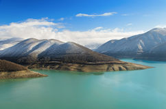 River, lake, mountains, landscapes Royalty Free Stock Photos
